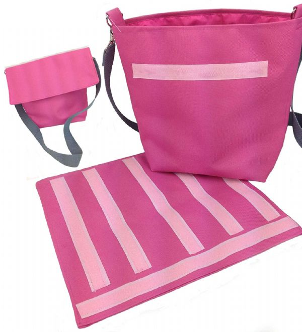Communication Choice Board Kit Bag in Pink